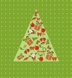 Christmas card with tree Stock Image