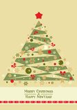 Christmas tree card - vector Stock Images