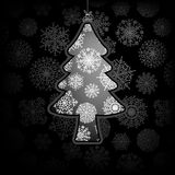 Christmas card with tree.  + EPS8. Vector file Vector Illustration