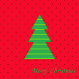 Christmas  card. Christmas Tree Merry Christmas cut out card in vector format Royalty Free Stock Image
