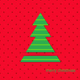 Christmas card. Christmas Tree Merry Christmas cut out card in vector format Royalty Free Stock Photo