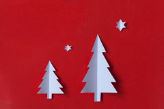 Christmas card. Christmas tree paper card background Stock Photography