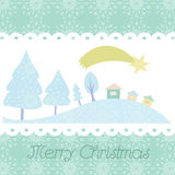 Christmas card with trees  background Stock Image