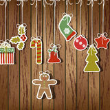 Christmas card vector Royalty Free Stock Photo