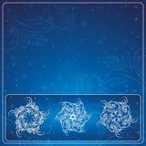Christmas card, vector Royalty Free Stock Photo