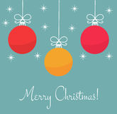 Christmas card vector Royalty Free Stock Photography