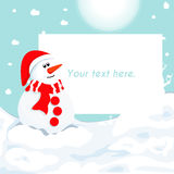 Christmas card Vector eps10 illustration.  Stock Image