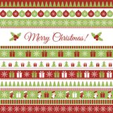 Christmas card. Vector Christmas greeting card with Christmas elements Royalty Free Stock Images