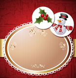 Christmas card, vector illustration Stock Images