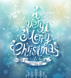 Christmas card. Vector illustration. Royalty Free Stock Image