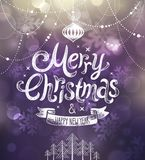 Christmas card. Vector illustration. Royalty Free Stock Photo