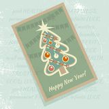 Christmas card. Vector illustration. Christmas card with a picture of a Christmas tree. Vector illustration Royalty Free Stock Image