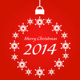 Christmas card 2014. Vector`s illustration of christmas card 2014 Royalty Free Stock Photo