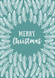 Christmas card, vector Stock Image