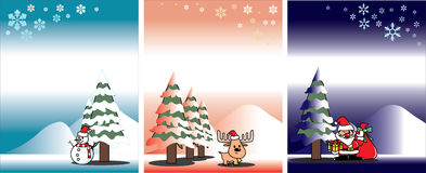 Christmas card vector template Stock Photography
