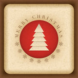 Christmas Card. Vector vintage Christmas card. Elements are layered separately in vector file Stock Photo