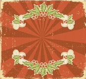 Christmas card.Vintage background. Royalty Free Stock Images