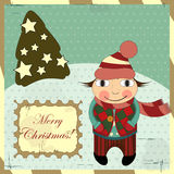 Christmas card in vintage style Royalty Free Stock Photo