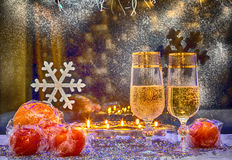Christmas, card, wallpaper. Photo in old image style. Royalty Free Stock Image