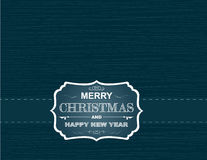Christmas card on wallpaper with snowflakes and curves Stock Image