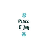 Christmas card on white background with blue elements and text Stock Images