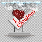 Christmas paper realistic  illustration. White curl paper with curved corners  Stock Photos