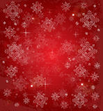 Christmas card with white snowflakes and stars. Stock Image