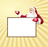Christmas card wiht Santa Royalty Free Stock Photography