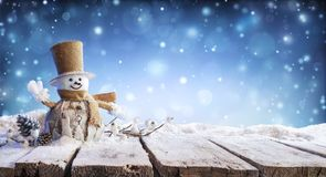 Christmas Card - Winter Incoming - Snowman