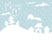 Christmas Card winter snow pouring Royalty Free Stock Images