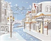 Christmas card - Winter on the streets Stock Photo