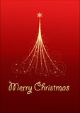 Christmas Card With Christmas Tree Royalty Free Stock Photos