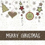 Christmas Card With Gifts Royalty Free Stock Image
