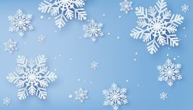 Free Christmas Card With Paper Cut Snow Flake. Royalty Free Stock Images - 137072159