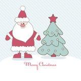 Christmas Card With Santa. Vector Illustration Royalty Free Stock Photos