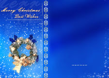 Christmas Card With Space For Wishes Stock Photography
