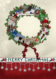 Christmas Card Wreath Royalty Free Stock Images