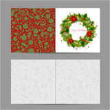 Christmas card, wreath for your design Royalty Free Stock Photo