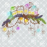Christmas card for xmas design Royalty Free Stock Images