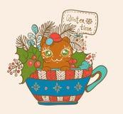 Christmas card for xmas design Stock Photos