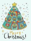 Christmas card for xmas design Stock Image
