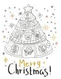 Christmas card for xmas design Royalty Free Stock Photo