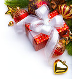 Christmas card with xmas gift boxes Royalty Free Stock Photo