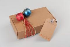 Christmas cardboard gift box Stock Photo