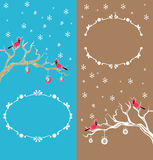 Christmas cardinal bird  brunch decoration Royalty Free Stock Image
