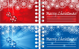Christmas cards. 2 bright creatiove Christmas cards Royalty Free Stock Photo