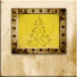 Christmas Cards. Christmas fir old frame Royalty Free Stock Photo
