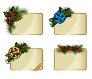 Christmas cards. Set of vector Christmas cards decorated with decorative elements Royalty Free Stock Images