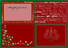 Christmas cards. Christmas Tree isolated on a red background Stock Images