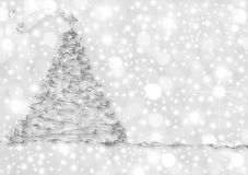 Christmas Cards abstract silver fir. Christmas Cards, abstract silver fir on starry background Royalty Free Stock Photos